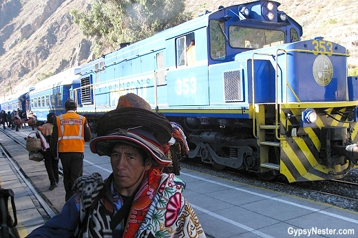 Train Station in Ollantaytambo, Peru on the way to Machu Picchu
