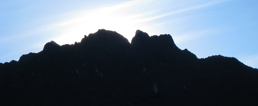 Pre sunrise at Machu Picchu