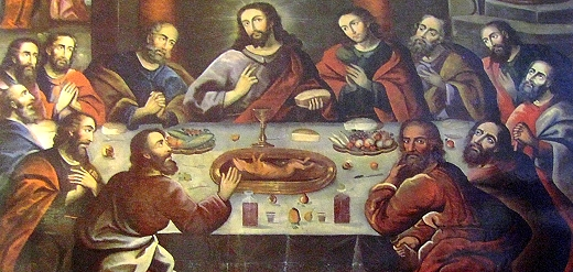 Last Supper with cuy or guinea pig in Cusco, Peru