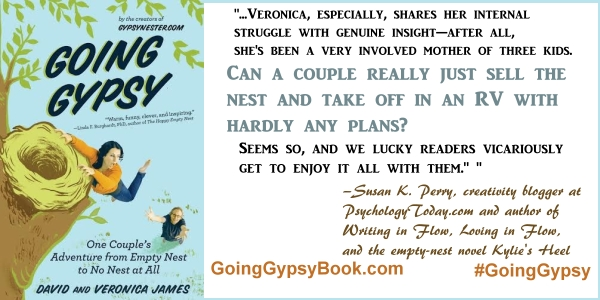 Can a couple really just sell the nest and take off in an RV with hardly any plans? ... Going Gypsy: One Couple's Adventure from Empty Nest to No Nest at All - http://goinggypsybook.com #GoingGypsy #books