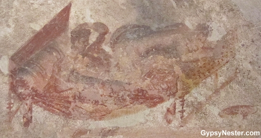 A painting in the brothel of Pompeii