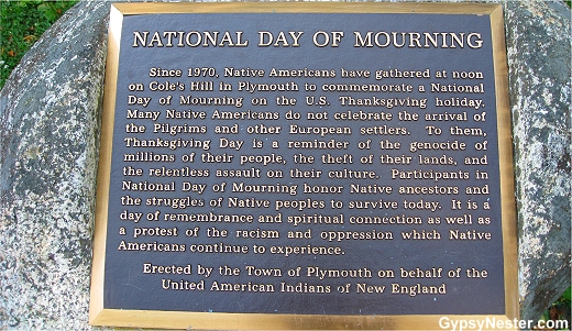 Plaque commemorating the National Day of Mourning