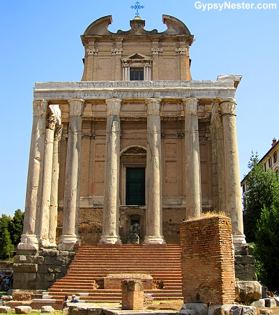 The Temple of Antoninus and Faustina in the Forum, Rome