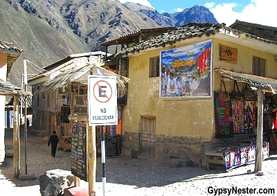 The village of Ollantaytambo