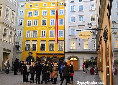 The house that Mozart was born in, Salzburg, Austria