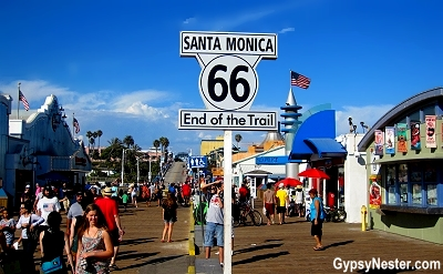 Route 66 ends at the Santa Monica Pier