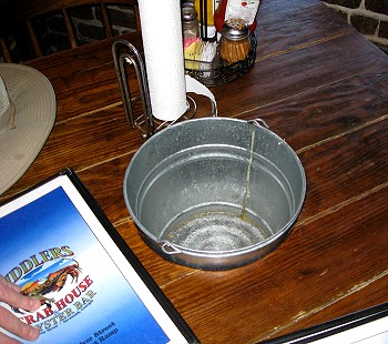 You know good things are coming when there's a bucket in the table!