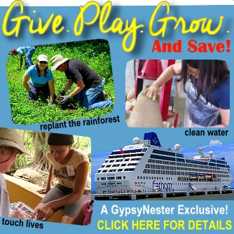 Make a difference in the world - on a cruise! Special savings from the GypsyNesters!