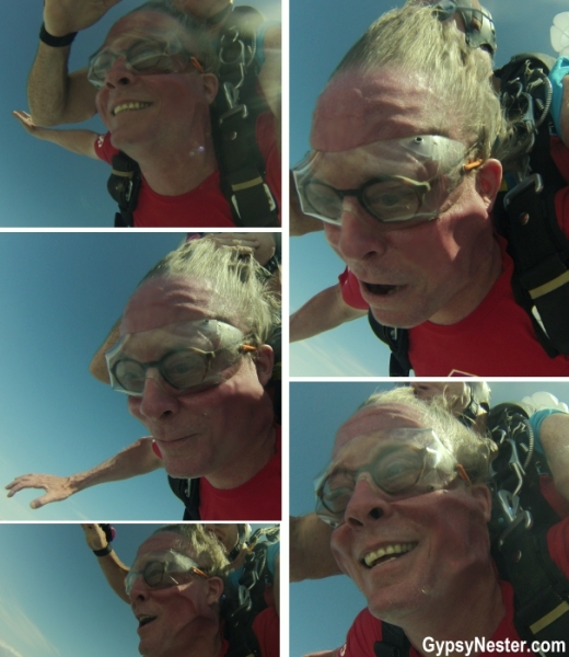 The best of David's face whilst skydiving!