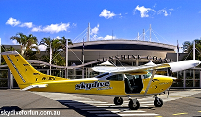 The Cessna 182 used by Skydive Ramblers, Queensland, Australia