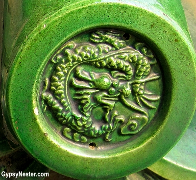 Dragon detail at The Temple of Heaven in Beijing, China