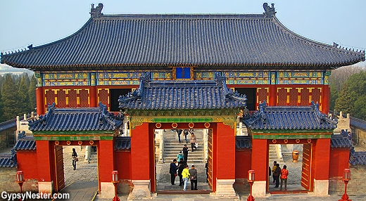 A gate to the Temple of Heaven, Beijing, China