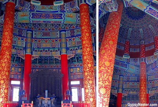 Interior of The Hall of Prayer for Good Harvests at The Temple of Heaven in Beijing, China