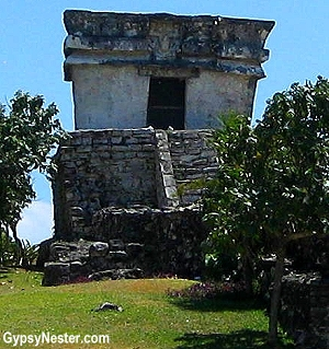 Temple of the Descending God, Tulum Mexico