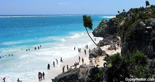 The beach at Tulum. Mexico