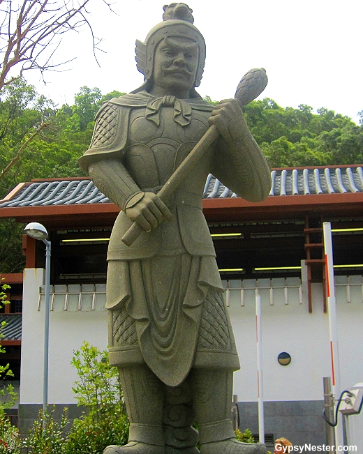 The General Andira represents 3-5 PM and the monkey of the Zodiac. He is armed with a mallet.