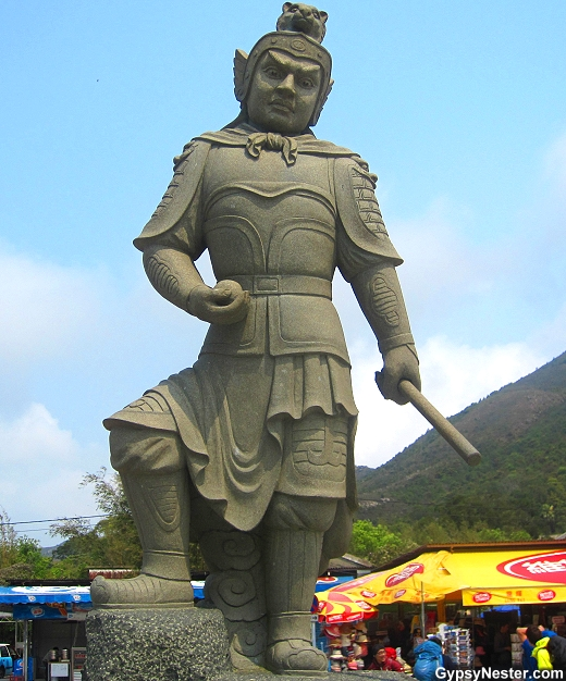 The General Kimnara represents 3- 5 AM and the tiger of the Zodiac. He is armed with a rope.