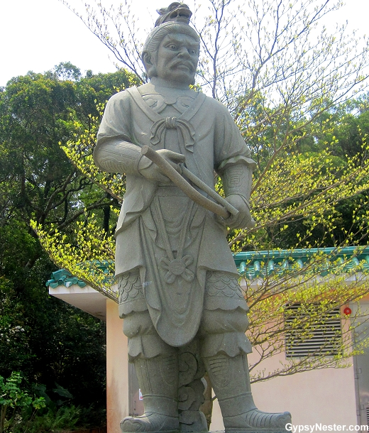 The General Pajra represents 7- 9 AM and the dragon of the Zodiac. He is armed with a bow and arrow.