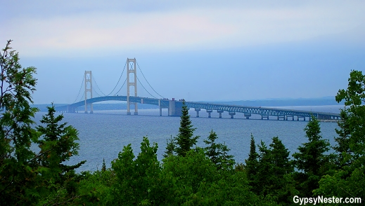 The two peninsulas of the Wolverine State are linked by the magnificent Mackinac Bridge