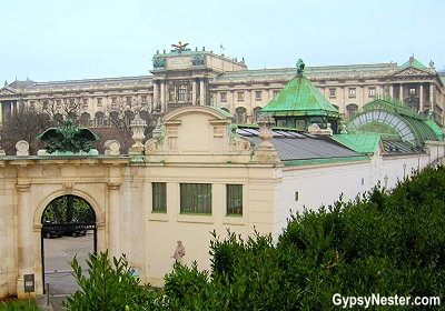 The New Castle of the Imperial Palace or Hofburg Palace of Vienna, Austria