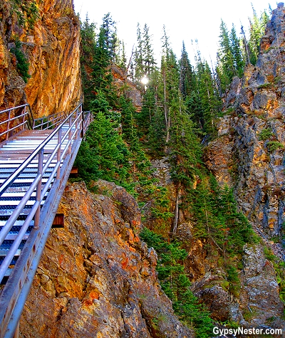 Uncle Tom's Trail in Yellowstone National Park